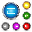 Stock Vector: Vector web player buttons