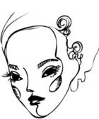 The girl's face — Stock Vector