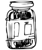 Closed glass jar — Stock Vector