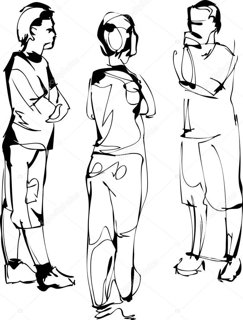 Парень со спины рисунки