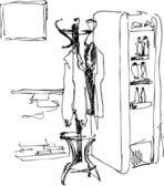 Peg at a refrigerator — Stock Vector