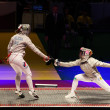 Russia-Ukraine final match at 2012 World Fencing Championships - Stock Photo