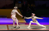 Russia-Ukraine final match at 2012 World Fencing Championships — Stock Photo