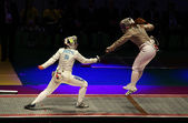 Italy-USA match at 2012 World Fencing Championships — Stock Photo