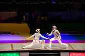 Russia-Ukraine final match at 2012 World Fencing Championships — Foto Stock