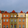 Buildings on Market square in Poznan, Poland - Stock Photo