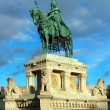 Stephen I monument, Budapest, Hungary - Stock Photo