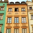 Old buildings on the central square of Warsaw - Stock Photo