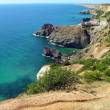 Black sea coast in Crimea, Ukraine - Stock Photo