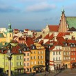 Castle square, Warsaw, Poland — Stock Photo