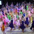 Dancing group at Deriugina Cup Gala Concert — Stock Photo