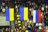 Awarding ceremony of Rhythmic Gymnastics Deriugina Cup — Stock Photo