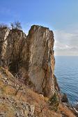 Kayalık sahil — Stok fotoğraf