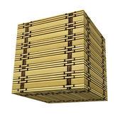Cube de bambou — Photo