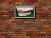 レンガの壁と画像 — ストック写真