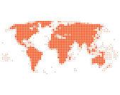 Worldmap — Stock Vector
