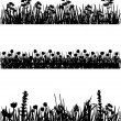 Stockvektor : Meadow silhouettes