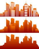 Skyline della città — Vettoriale Stock