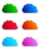 雲のラベル — ストックベクタ