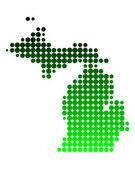 密歇根州的地图 — 图库矢量图片