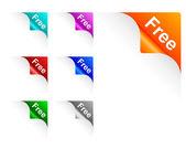 Free paper corner — Stock Vector