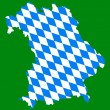 Map and flag of Bavaria - Stock Vector