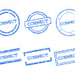 Stock Vector: Connect stamps