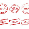 Sold stamps - Stock Vector