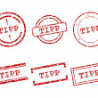 Tipp stamp — Stock Vector