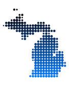 Carte de michigan — Vecteur