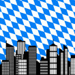 Stock Photo: City and flag of Bavaria