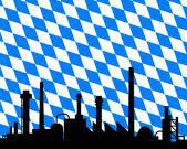 Industry and flag of Bavaria — Stock Photo