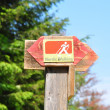 Stock Photo: Nordic walking sign