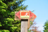 Nordic walking sign — Stock Photo