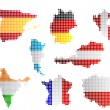 Maps and flags - Image vectorielle