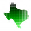 Map of Texas - Stock Vector