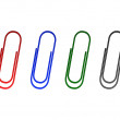 Paperclips — Stock Vector #8961383