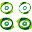 Stock Vector: Green spirals
