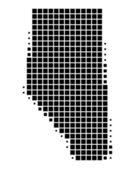 Map of Alberta — Stock Vector
