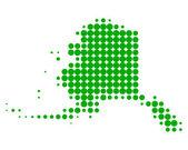 Mappa di alaska — Vettoriale Stock