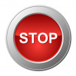 Stock Vector: Stop button