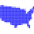 Stock Vector: Map of United States of America