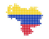 Map of Venezuela — Wektor stockowy