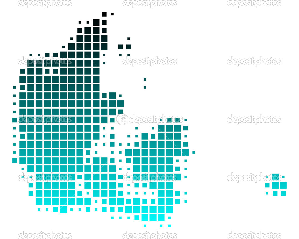 Map of Denmark — Stock Vector #9622307