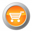 Stock Vector: Shopping cart button