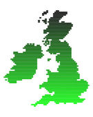 Map of the British Isles — Vector de stock