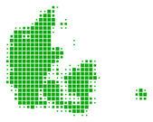 Map of Denmark — Stock Vector