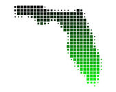 Map of Florida — Stock Vector
