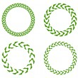 Stock Vector: Green wreaths