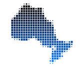 安大略省的地图 — 图库矢量图片